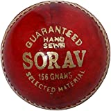 Sorav Men's Leather Cricket Ball - Standard, Red