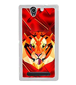 Tiger 2D Hard Polycarbonate Designer Back Case Cover for Sony Xperia C3 Dual :: Sony Xperia C3 Dual D2502