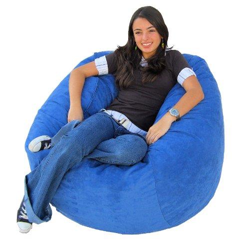 Groovy Top 10 Best Cozy Sack 4 Feet Bean Bag Chair Large Sky Blue Machost Co Dining Chair Design Ideas Machostcouk