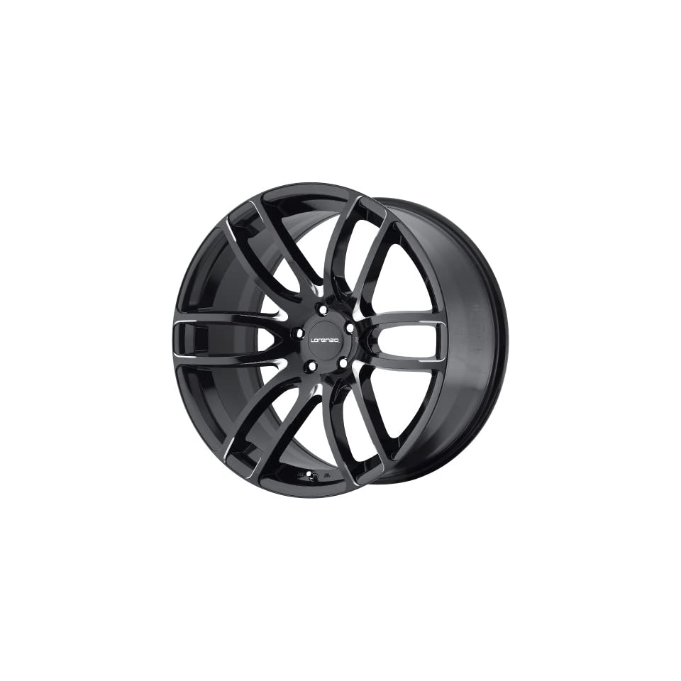 Lorenzo WL36 Gloss Black Wheel with Milled Accents (22x9/5x120mm, +38mm offset)