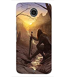 ColourCraft The Warrior Design Back Case Cover for MOTOROLA GOOGLE NEXUS 6
