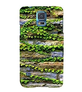 EPICCASE Bricks and leaves Mobile Back Case Cover For Samsung Galaxy S5 (Designer Case)