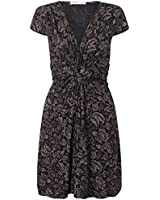 KRISP® Womens Knot Front Dress Flare Ruched V Neck Summer Dress Plus Size