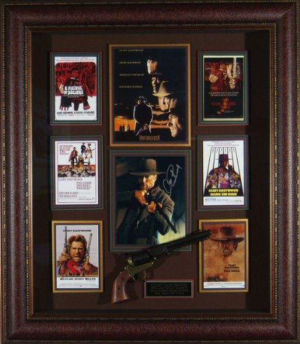 Unforgiven Clint Eastwood Autographed Best Picture Framed Display