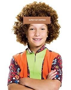 Bliss Pro's BROWN Children's Afro Wig Halloween Costume Wig 70's 80's Retro Disco