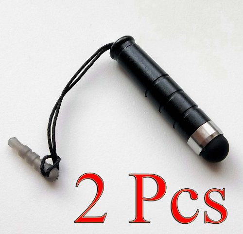 Bargains Depot® (Black) 2 pcs (2 in 1 Bundle Combo Pack) 3.5MM JACK ATTACHABLE MINI Capacitive Stylus/styli Universal Touch Screen Pen for Tablet PC Computer : HTC EVO View 4G Android Tablet, HTC Flyer 7 inch Android Tablet 16GB, Motorola Xoom 10.1 Inch