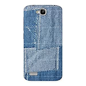 Enticing Vintage Denim Print Back Case Cover for Honor Holly
