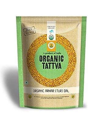 Organic Tattva Arhar (Tur) Dal, 1kg at Amazon at Rs.116 low price