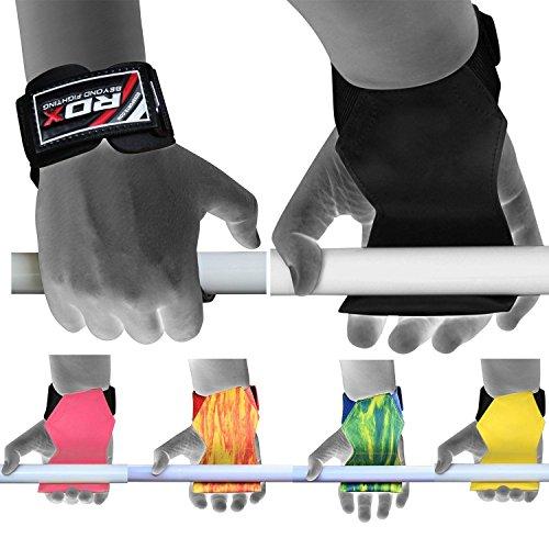 RDX Palestra Fitness Cinghie Sollevamento Pesi Palma Supporto Fasce Polso Peso Bodybuilding