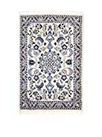 Eden Carpets Alfombra Nain K Beige/Azul 90 x 60 cm