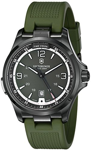 """Night Vision"" Stainless Steel Watch"