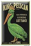 Tin Sign Kitchen Decor King Pelican Iceberg Lettuce Metal Wall Plate 8X12