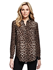 M&S Collection Cheetah Print Blouse