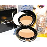 Bundle 2 Items: Mica Beauty Mineral Makeup #Mf5 Cappuccino Pressed Foundation 12g+3 Stacks Gold Peacock