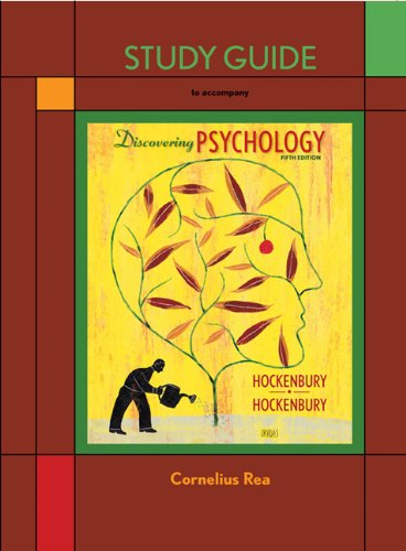 Study Guide to accompany Discovering Psychology, Cornelius Rea