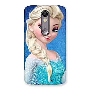 Special Winked Princess Freez Multicolor Back Case Cover for Moto X Force