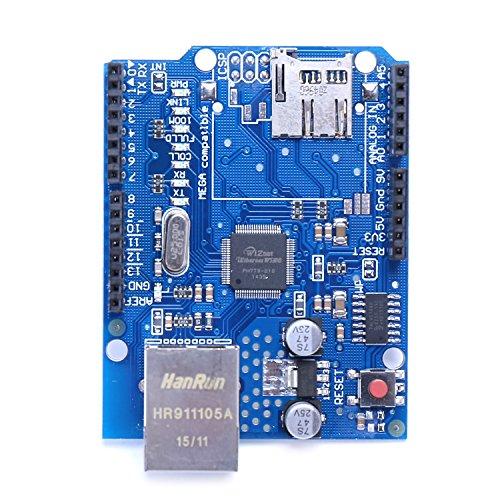 イーサネットシールド W5100 for Arduino (micro SD) (1枚, ブルー)