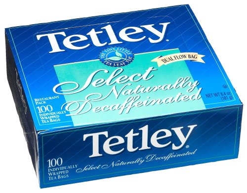 Buy Tetley Select Natural Decaffeinated Tea, Dual Flow Bag, 100-Count Envelopes (Pack of 5) (Tetley, Health & Personal Care, Products, Food & Snacks, Beverages, Tea)