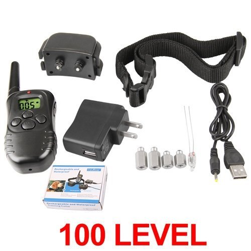 Kcrius(Tm) Rechargeable Lcd Shock Vibra Remote Control Dog Training Collar