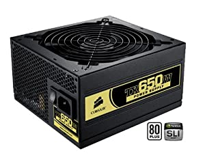 Corsair CMPSU-650TX 650-Watt TX Series 80 Plus Certified Power Supply