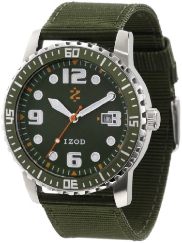 IZOD Men's IZS3/6 KHAKI Sport Quartz 3 Hand Watch