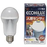 アイリスオーヤマ LED電球 人感センサー付 電球色(LDA6LHS) 250lm