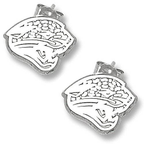 LogoArt Jacksonville Jaguars 3/8 Sterling Silver Post Earrings
