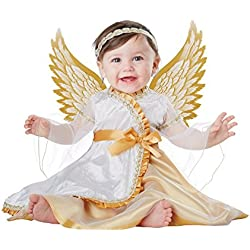 California Costumes Baby-Girls Infant Angel, White/Gold, 12-18 Months