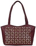 Coash Maroon Cutwork Handbag