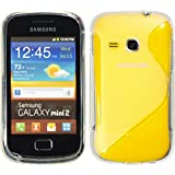 PhoneNatic Samsung Galaxy Mini 2 Hülle Silikon clear S-Style Tasche Galaxy Mini 2 Case + Schutzfolien