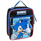 Sonic The Hedgehog Sonic Power Insulated Lunch Tote - Black And Blue
