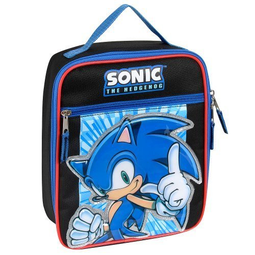 Sonic the Hedgehog Sonic Power Insulated Lunch Tote - Black and Blue - 1