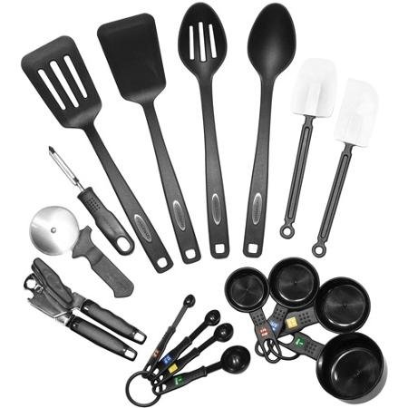 Plastic Construction Farberware Classic 17-Piece Tool and Gadget Set, Set Includes Turner, Can Opener and More (Farberware Knife Set 12 Piece compare prices)