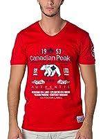 CANADIAN PEAK Camiseta Manga Corta Jontario (Rojo)