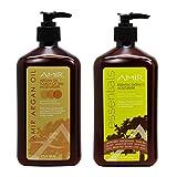 Amir Argan Oil Touch Of Tan Moisturizer & Essential Extracts Moisturizer 18oz