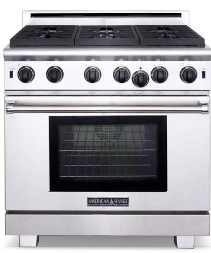 American-Range-ARROB436GDN-Performer-Series-36-Open-Burner-All-Gas-Range-Stainless-Steel