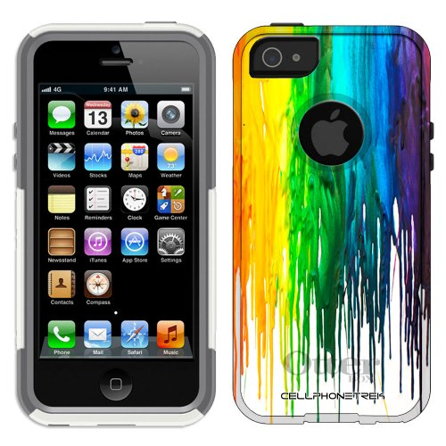 Great Sale Otterbox Commuter Series Melting Wax Hybrid Case for iPhone 5 & 5s