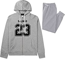 Sport Style Salinas 23 Team Jersey City California Sweat Suit Sweatpants XX-Large Grey