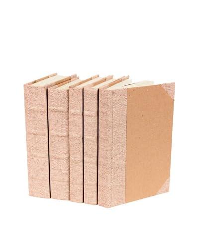 Set of 5 Bespoke Herringbone Books