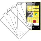 Nokia Lumia 520 Screen Protector Cover, MPERO Collection 5 Pack of Clear Screen Protectors for Nokia Lumia 520