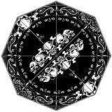 Skull with Paisley Print Custom Foldable Rain Umbrella