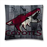NHL Phoenix Coyotes Hockey Fans Throw Pillow Covers for RV, Sofa and Bed 18×18 Inch (45×45 Cm)
