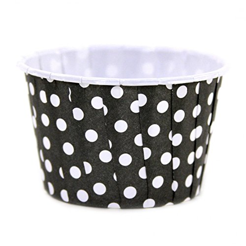 Dress My Cupcake 24-Pack Party Nut Cups, Polka Dot, Black
