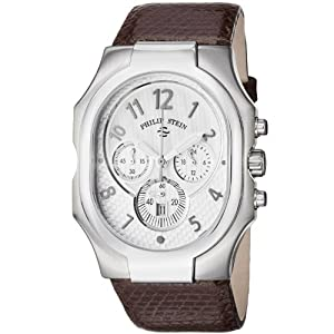 Philip Stein Men's 23-NW-ZBR Classic Brown Lizard Leather Watch