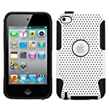 White Black Silicone Gel Mesh Air Skin Case Cover For Apple iPod Touch 4G 4th Generation 8GB 32GB 64GB+2 Free Screen Protectors