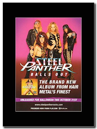 Steel Panther, al 31 ottobre palline Out Magazine Promo su un supporto, colore: nero