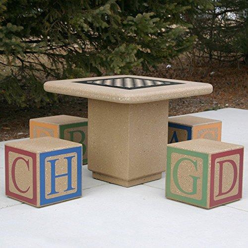 Doty & Sons Concrete Alphabet Block Seat Picnic Table - Seats 4