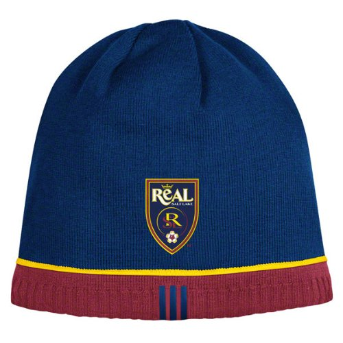 Real Salt Lake Reversible adidas Authentic Player Knit Hat