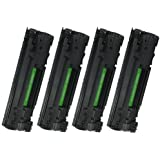 Compatible HP 85A (CE285A) Black Laser Toner Cartridge for use with HP LaserJet Pro Multifunction Printers - 4 Pack