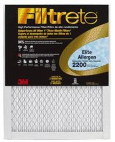 Filtrete 20x20x1 MPR 2200 Elite Allergen Filter Filter - 6 Pack (3m Elite Air Filter compare prices)